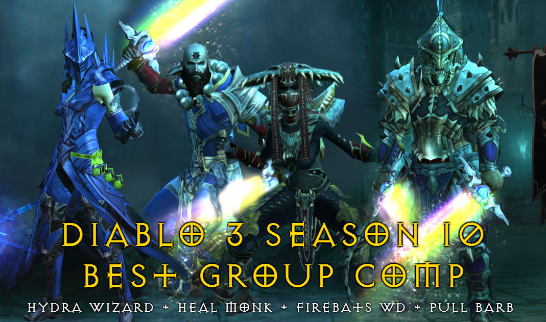 Wizard Monk Witch Doctor and Barb are the most popular choice for Diablo 3 Season 10 on Troupster.com Poll