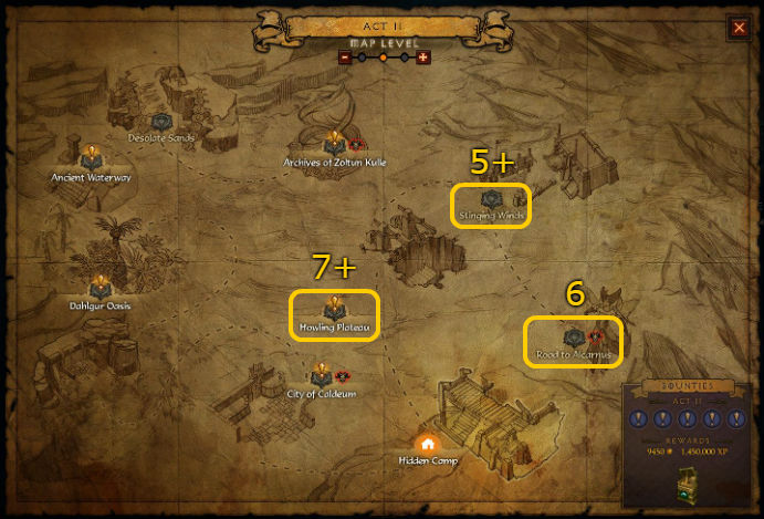 Act 2 Pool Locations for Diablo 3 @ Troupster.com