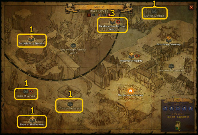 Act 5 Pool Locations for Diablo 3 @ Troupster.com