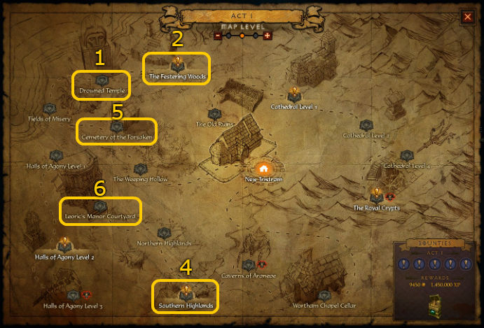 Act 1 Pool Locations for Diablo 3 @ Troupster.com